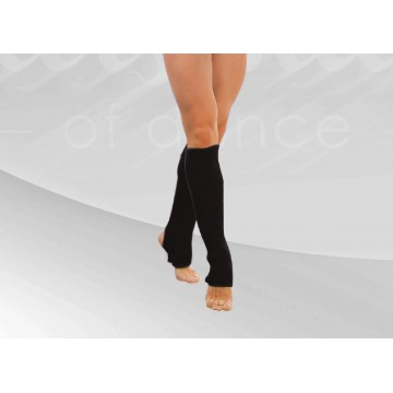 Legwarmers Black 40cm Lang with a Hole