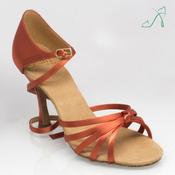 Ray Rose 825 Drizzle |Dark Tan Satin|