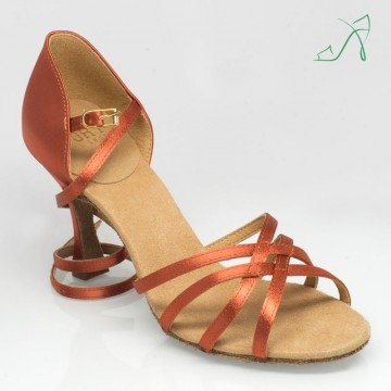 Ray Rose 835 Monsoon |Dark Tan Satin|